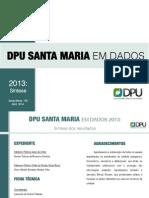 DPU Santa Maria Em Dados 2013 Síntese Corrigida
