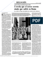 01. Juan Pablo II Revela Que El 3º Secreto de Fátima, Era El Atentado Que Sufrió en Roma. Pg.1