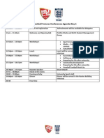 BUCS Football Futures Conference Agenda 2014