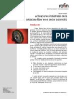 Aplicaciones Industriales de La Soldadura Láser en El Sector Automotriz