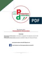 Partecipazione Democratica - Program 2014