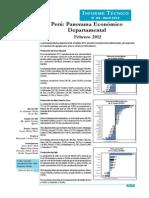 Panorama Económico Departamental - Febrero 2012