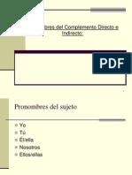 Pronombres CD y CI HOY 7MO