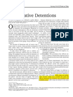 Investigative Detentions