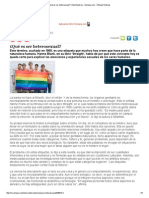 ¿Qué Es Ser Heterosexual_, Vida Moderna - Semana