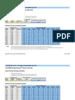 LATICRETE Grout Coverage Calculator - By Unit Size - Metric Version