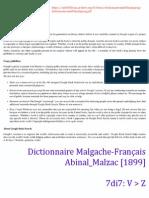 V-Z (7di7) - Dictionnaire Malgache-Français Abinal Malzac  1899  f54e3c470b