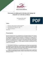 Guía para la elaboración del plan del trabajo de titulación en ciencias jurídicas