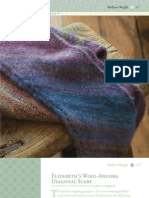 Luxury One-Skein Wool-Angora Diagonal Scarf Pattern