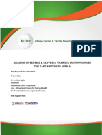 ACTIF Report of Textile and Clothing Training Institutions in ESA Region_Dr E. Nguku_Nov 2012