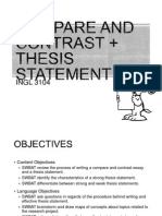 Compare and Contrast +Thesis Statement