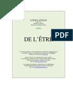 Lavelle, Louis - De l'Être