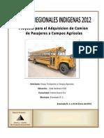Proyecto de Adquisicion de Camion Para Transporte a Campos Agricolas