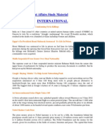 June 2012 Current Affairs Study Material