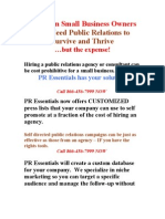 Small Business Needs Public Relations to Survive and Thrive