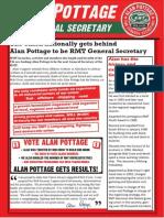 Alan Pottage for General Secretary newsletter