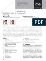 Numerical Study of Ground Vibration Due to Impact Pile Driving