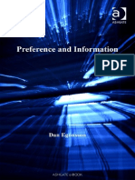 Dan Egonsson-Preference and Information (Ashgate New Critical Thinking in Philosophy-Lund Humphries Pub Ltd (2007)