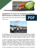 Candidatos Ao Curso de Formação de Oficiais 2015 Devem Se Inscrever No Enem