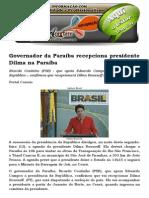 Governador Da Paraíba Recepciona Presidente Dilma Na Paraíba