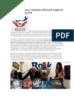 Las 500 Mejores Canciones Del Rock Según La Emisora Rock FM