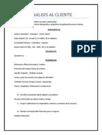 Analisis Al Cliente Mercadotecnia