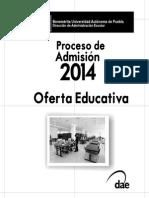 Oferta Educativa CuArDernIllo buap 2014