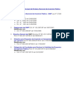 Índice - Normatividad Principal Del SNIP - Saneamiento