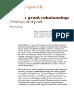 Chinas Great Rebalancing