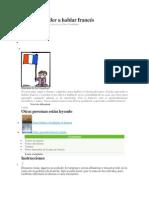 Cómo Aprender a Hablar Francés