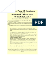 Button Face ID Numbers (Excel Version) Rel 3