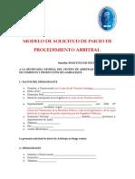 Modelo Solicutd de Arbitraje