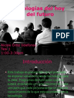 Presentación de Tecnologías Del Hoy y Del Futuro POWER POINT [Autosaved]