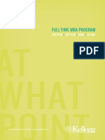 Kellogg Full Time MBA Brochure 2013 2014