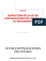 Sesión 08 Estructura de La Ley de Contrataciones y Su Reglamento