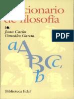 Gonzalez G., Juan Carlos - Diccionario de Filosofía