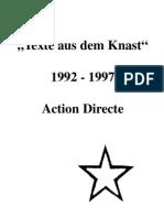 Die Gefangenen aus der Action Directe - Texte aus dem Knast 1992-1997