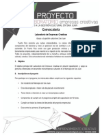 Convocatoria Laboratorio de Empresas Creativas