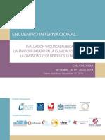 1. Encuentro Politicas Publicas Genero y Diversidad. Cali, Septiembre 2014