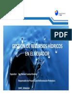 Utpl Gestion Recursos Hidricos Ecuador 2