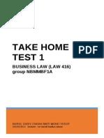 Test 1 Take Home LAW 416