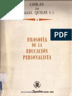Filosofia de La Educación Personalista