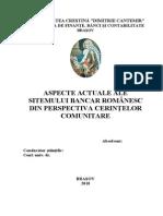 94894090 Aspecte Actuale Ale Sitemului Bancar Romanesc Din Perspectiva Cerinţelor Comunitare
