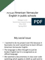 african american vernacular english in public schools