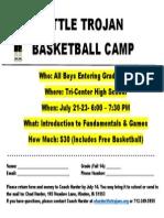 Little Trojan Boys Basketball Camp 2014