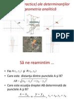 Aplicaţii (Practice) Ale Determinanţilor În Geometria Analitică