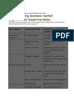 4. B2B Market Segmentation