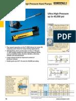 Enerpac High Pressure Hand Pumps