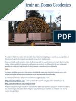 Como Construir Un Domo Geodesico Frecuencia 4.V