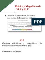 Campos Eléctrico y Magnéticos de VLF y ELF